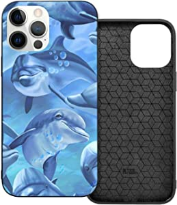 Blue Ocean Dolphin Phone Cases Unique Marine Life Design iPhone 12 Pro 6.1protective Case Slim fit Anti Scratch Shock Proof