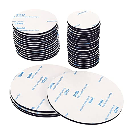 60 pieces assorted sizes double sided stickers black round foam tape strong pad mounting adhesive dots