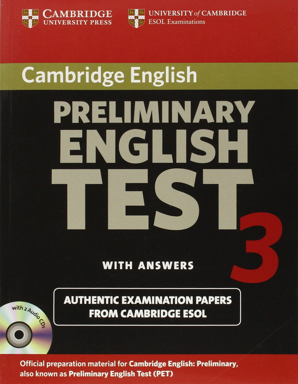 Buy Cambridge Preliminary English Test 3 Self-study Pack