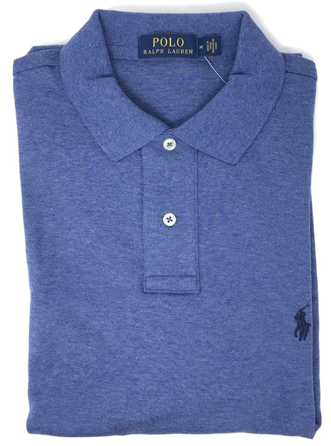 fc2c0460 Ribbed polo collar. Two-button placket. Short sleeves with ribbed armbands. Polo  Ralph Lauren Men Medium Fit Interlock Polo Shirt
