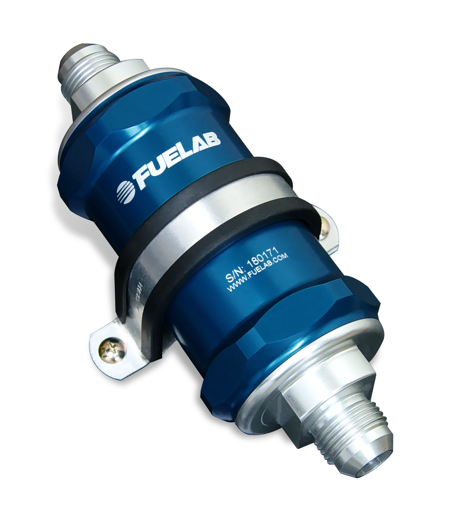 Fuelab 81801-3 Blue 10 Micron Standard Length In-Line Fuel Filter