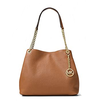 ac5ca077d38504 Image Unavailable. Image not available for. Color: Michael Kors Jet Set  Chain Item Large Leather Shoulder Bag ...