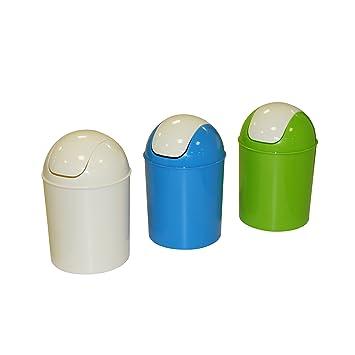 Axentia Mülleimer mit Schwingdeckel, Abfallbehälter für die Küche ...
