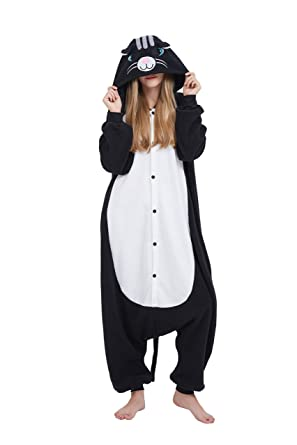 Fandecie Animal Costume Animal Traje Pijamas Pijamas Jumpsuit Mujer Hombre Cosplay Adulto para Carnaval Animal Halloween