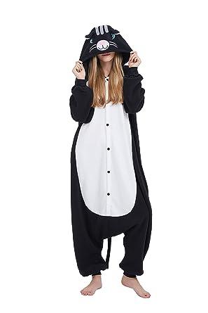 Fandecie Animal Costume Animal Traje Pijamas Pijamas Jumpsuit Mujer Hombre Cosplay Adulto para Carnaval Animal Halloween