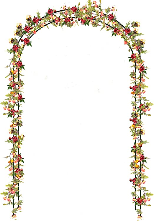 Buyi-World Arco para Trepadoras Arco de Jardín/Bodas/Fiestas para Rosas Subiendo Las Plantas, Decoración Muebles Puerta de Flores Rosas Trepadoras 140 × 38 × 240 cm: Amazon.es: Jardín