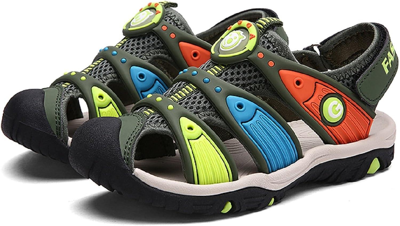 T-Gold Unisex-Kids Sandals Summer Sports Beach Sandals Outdoor Shoes Comfortable Flat Walking//Trekking Velcro Sandals