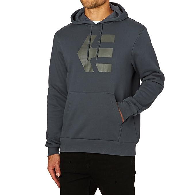 Etnies Icon - Sudadera con capucha para hombre, color azul marino, talla L
