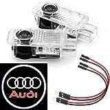 ubeg de voiture de porte Logo Éclairage, lumière Projection [haute définition] voiture Porte Projection lumière pour Audi série–2Pack