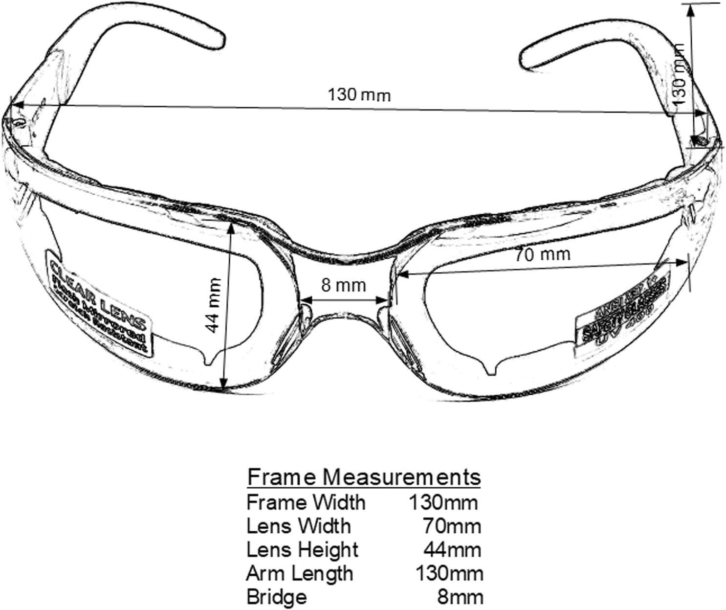 avec Pochette en Microfibre Global Vision Lunettes de Soleil rembourr/ées Transparentes pour Moto de Nuit