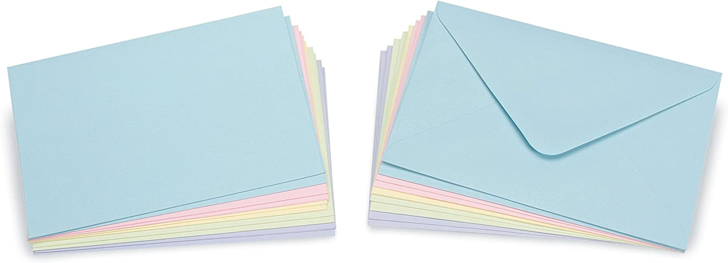 White Darice Coordinations A2 Size Cards and Envelopes Set of 50