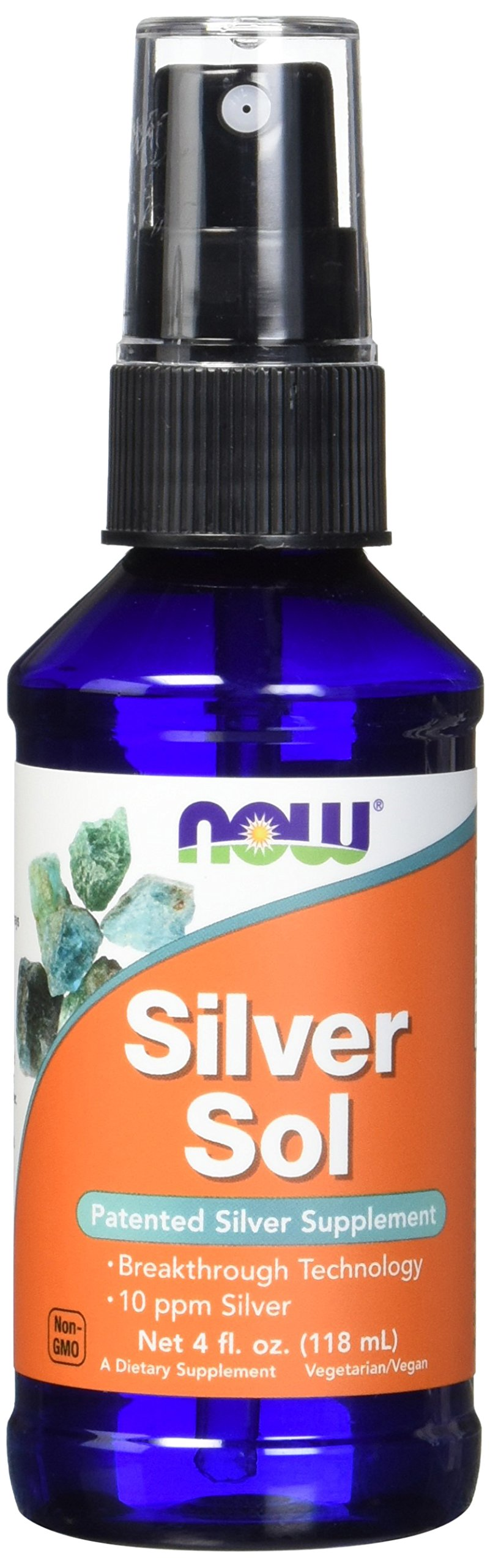 Now Foods Silver Sol 10 PPM Liquid, 4 Ounce