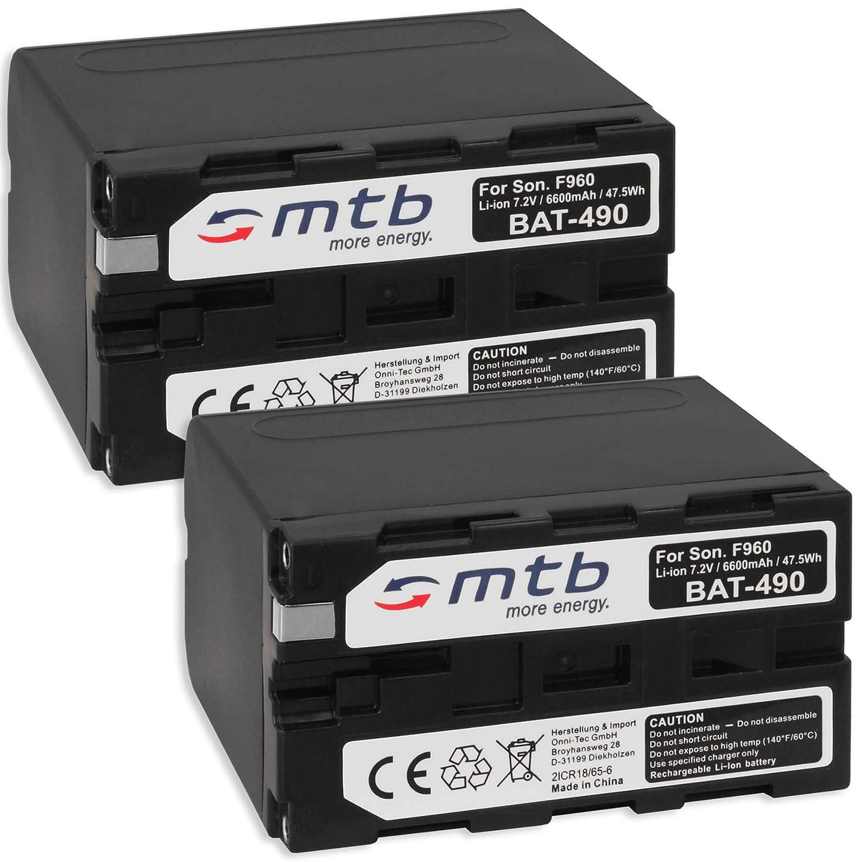 2X Batería Compatible con NP-F960 F970 [6600 mAh] para Sony ...