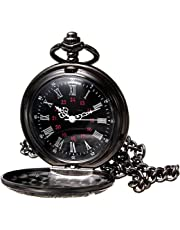 New Brand Mall Classic Vintage Design Case for Quartz Pocket Watch + Chain