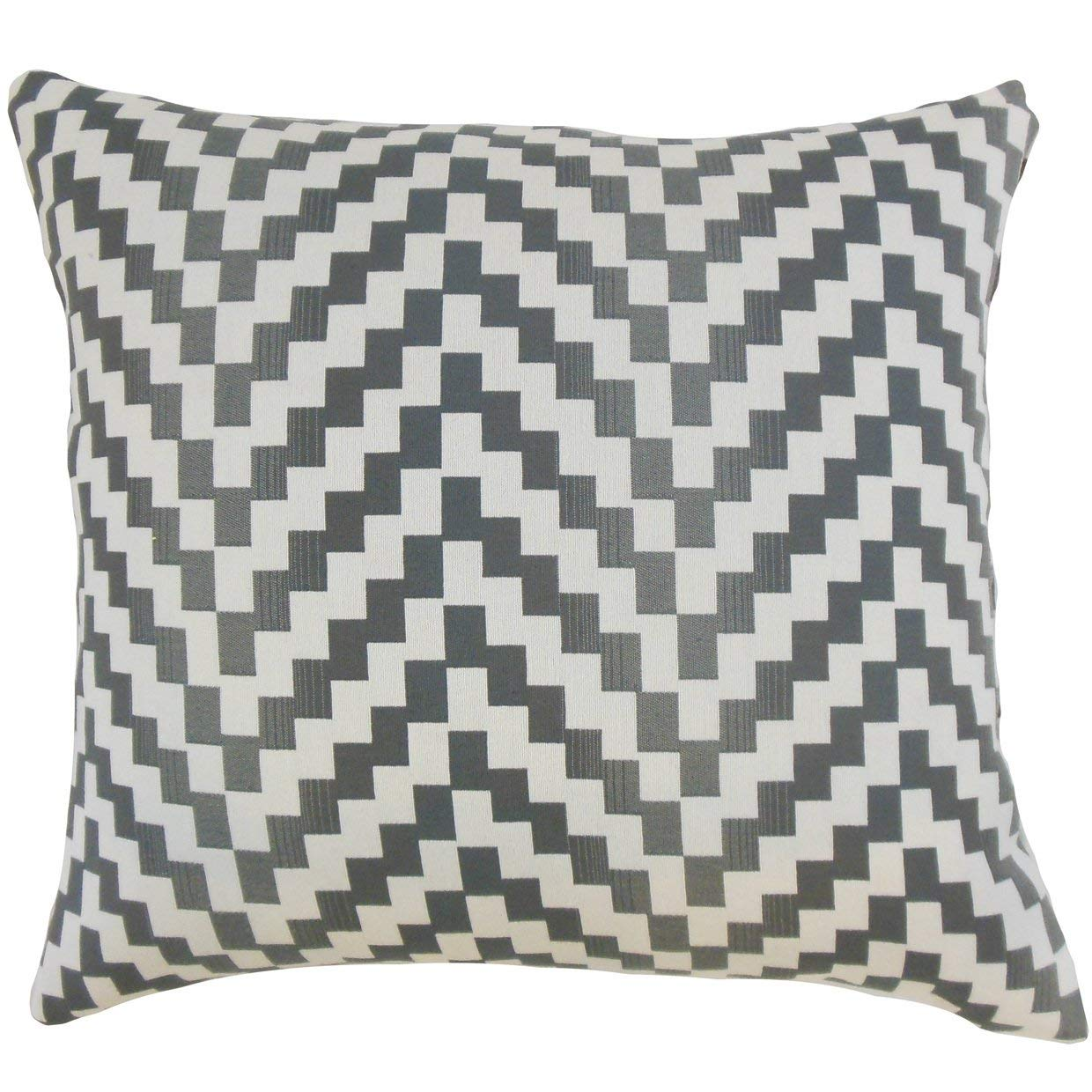 The Pillow Collection Dhiren Geometric Zinc Down Filled Throw Pillow