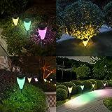 Night's King Solar Garden Lights, 6 Pack Waterproof LED Sunlight Stake Landscape Lights for Garden Flowerbed Path Walkway Patio Lawn Outdoor Decoration