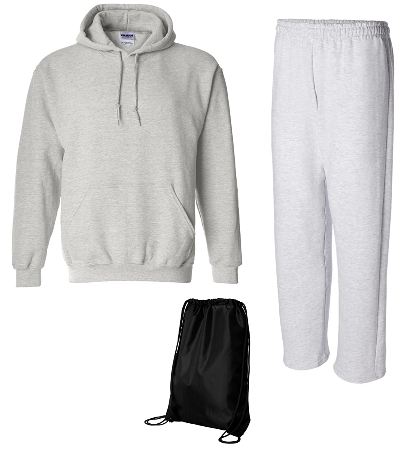Gildan Men's Heavy Fleece Sweatsuit - Pullover Hoodie and Open ...