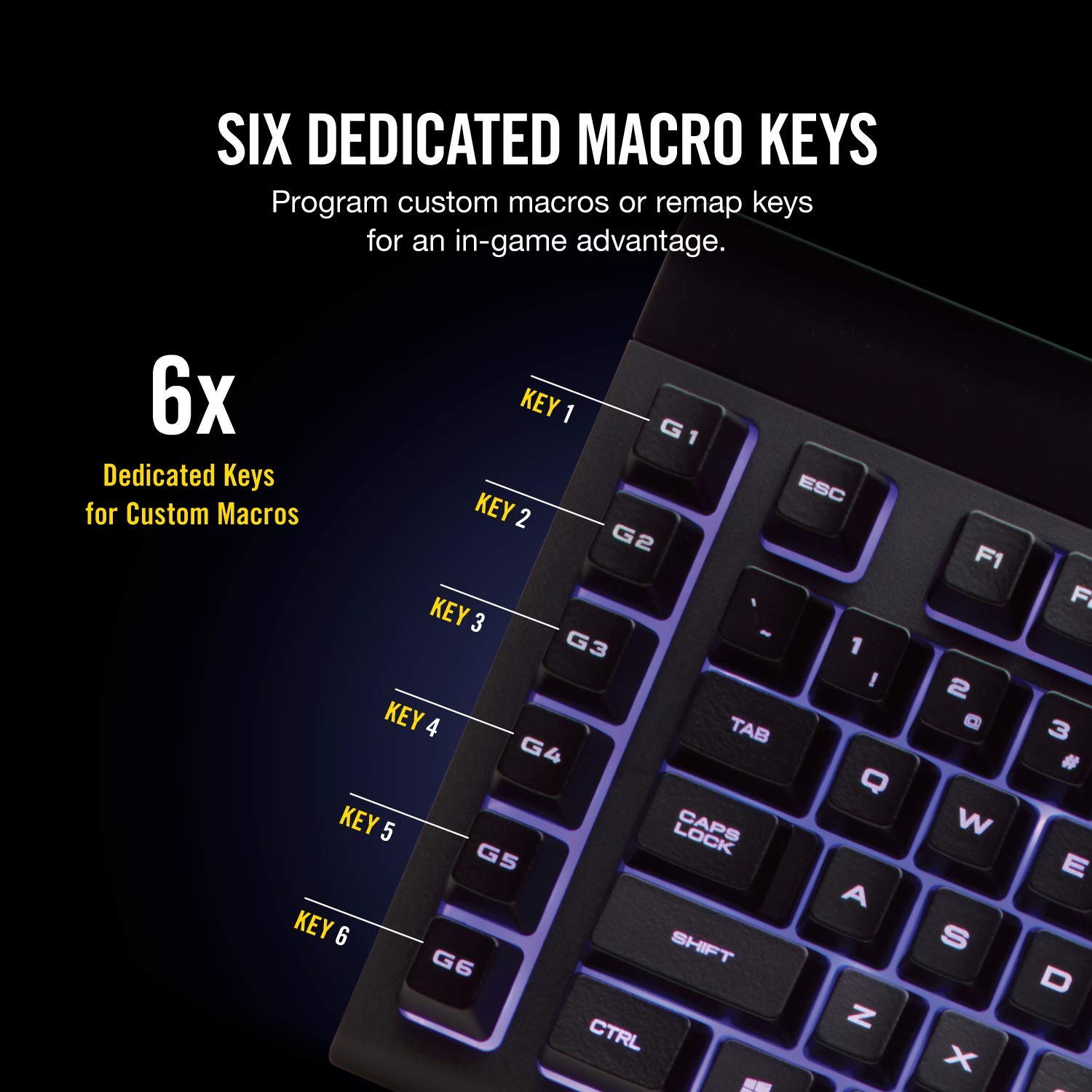 1ms Response time with Slipstream Wireless Bluetooth or Wired Individually Backlit RGB Keys Connect with USB dongle CORSAIR K57 RGB Wireless Gaming Keyboard