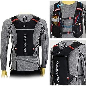 Lixada Mochila Hidratación 5L Mochila para Correr Ligera Mochila para Correr Ciclismo Equitación Excursionismo Alpinismo