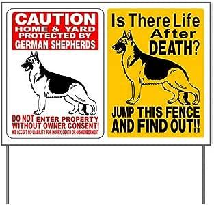Amazon.com : (2) GERMAN SHEPHERD DOG SIGNS Yard SignYard
