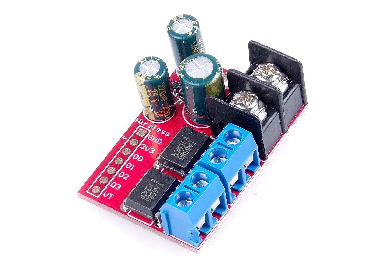 5A デュアルモータードライブモジュール リモートコントロール 前方および後方 PWM速度調整 ダブルHブリッジ L298N以上   B07LFWXPJV
