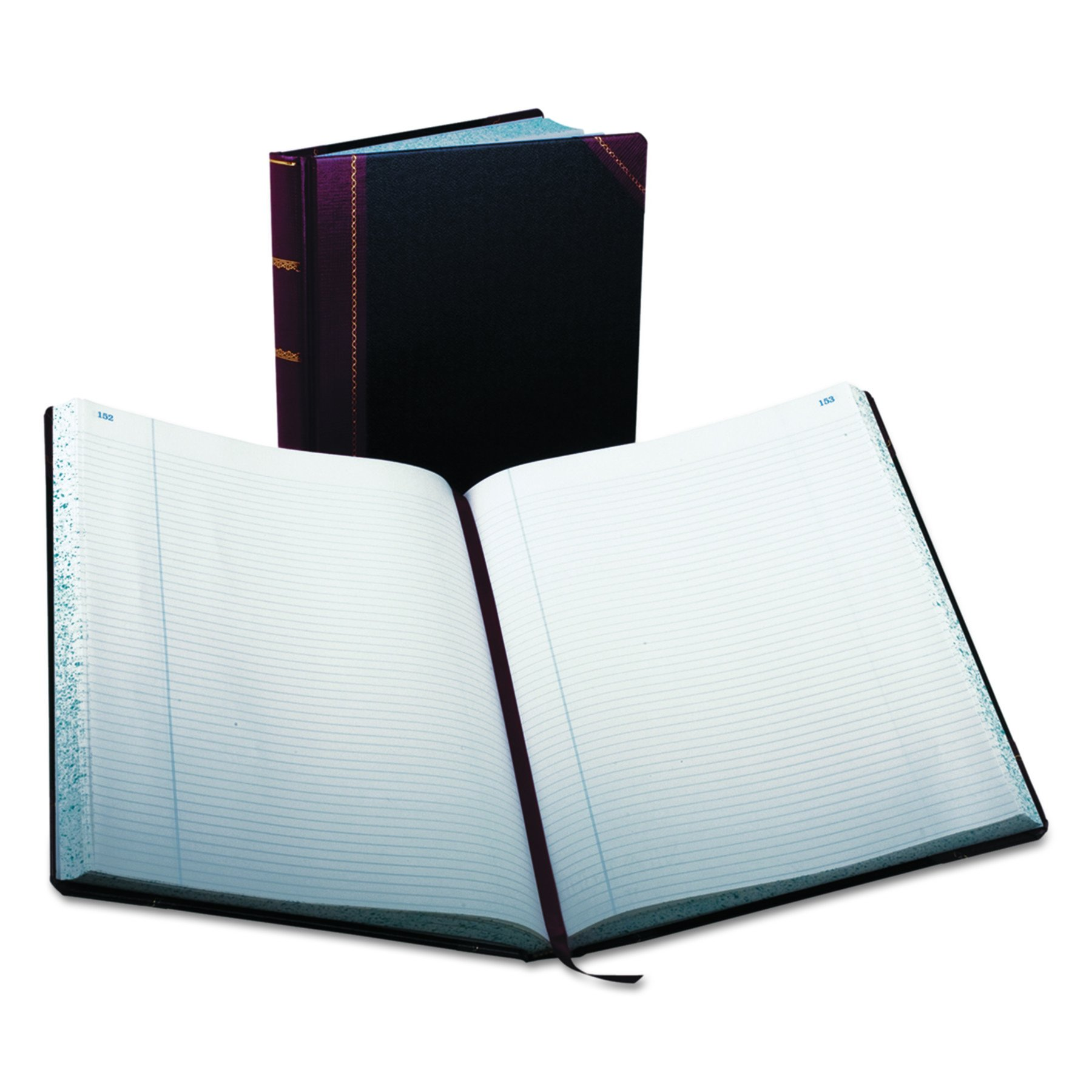 Boorum & Pease 23 Series Columnar Book, Record, 300 Page, Black/Red (23-300-R)