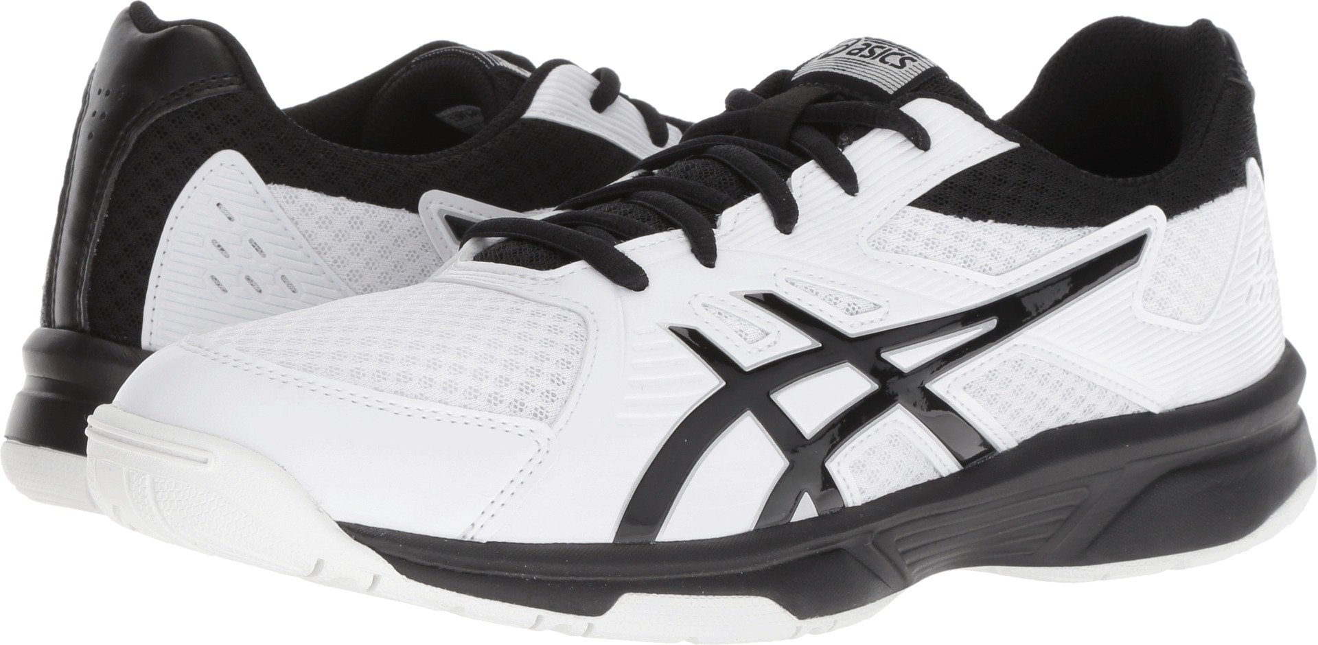 ASICS Men's Upcourt 3 Volleyball Shoes, White/Black, Size 10.5 by ASICS