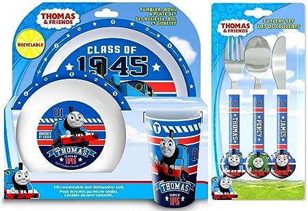 Thomas The Tank Engine u0027Collegeu0027 6-Piece Dinner and Cutlery Set   Tumbler  sc 1 st  Amazon UK & Thomas The Tank Engine u0027Collegeu0027 6-Piece Dinner and Cutlery Set ...