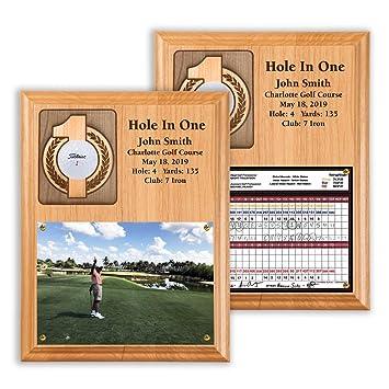hole-in-one bola placa y tarjeta de puntuación: Amazon.es ...