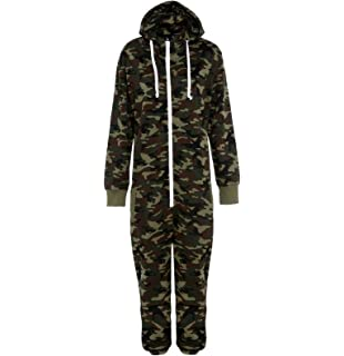 e087874507bc Mens Camo Camouflage Onesie Hooded Zip Onesies Playsuit All in One Piece  Jumpsuit Nouvelle…
