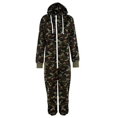e0573d6fe183 Mens Camo Camouflage Onesie Hooded Zip Onesies Playsuit All in One Piece  Jumpsuit Nouvelle Adult onesie Size Aztec Print Hoodie  Amazon.co.uk   Clothing