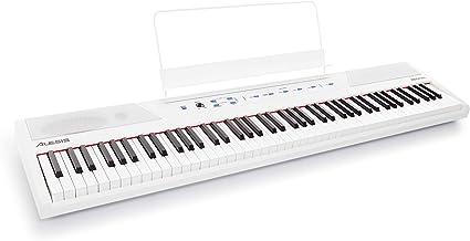 M-Audio SP-2Pedal de sostenido universal con tacto de piano para teclados electr/ónicos Alesis RecitalTeclado de Piano Digital El/éctrico con 88 Teclas Semipesadas de Tama/ño Completo