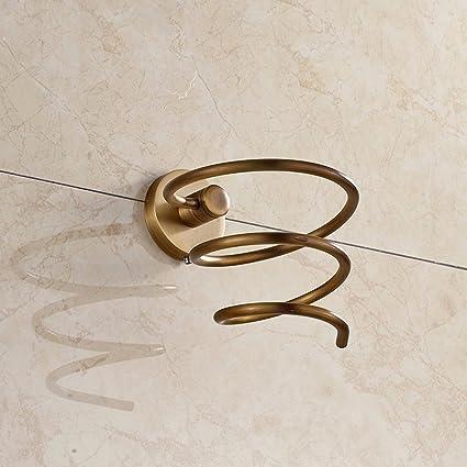 olqmy-bathroom estantería, europeo antiguo dibujo de alambre, baño, todo cobre secador