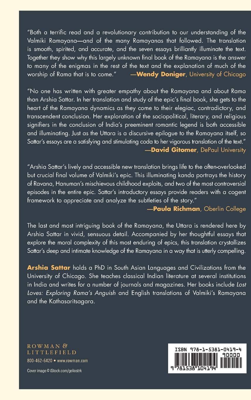 Buy Valmiki's Uttara Kanda: The Book of Answers Book Online