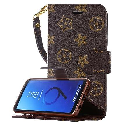 Amazon.com: Galaxy S9 Funda tipo portafolios para hombre ...
