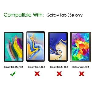 [3-Pack] Galaxy Tab S5e Screen Protector, SPARIN Galaxy Tab S5e Tempered Glass Screen Protector, 9H Hardness/Bubble Free/High Response for Samsung Galaxy Tab S5e,10.5 inch
