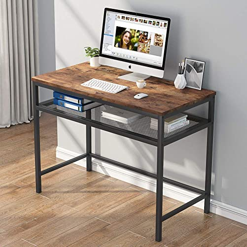 Computer Desk Writing Study Desk PC Notebook Laptop Study Table Office Desk Workstation Industrial Modern Simple Style