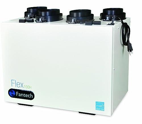 Fantech Flex 100H Heat Recovery Ventilator HRV CFM, 0.4 W.C, 50-106