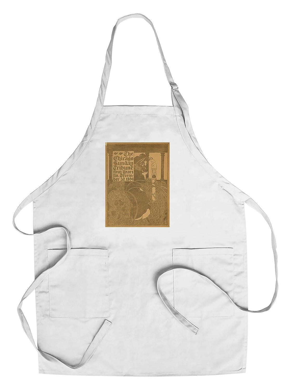 シカゴSun Tribuneヴィンテージポスター(アーティスト: Bradley ) USA C。1894 Chef's Apron LANT-60573-AP B018NO9ZTQ  Chef's Apron