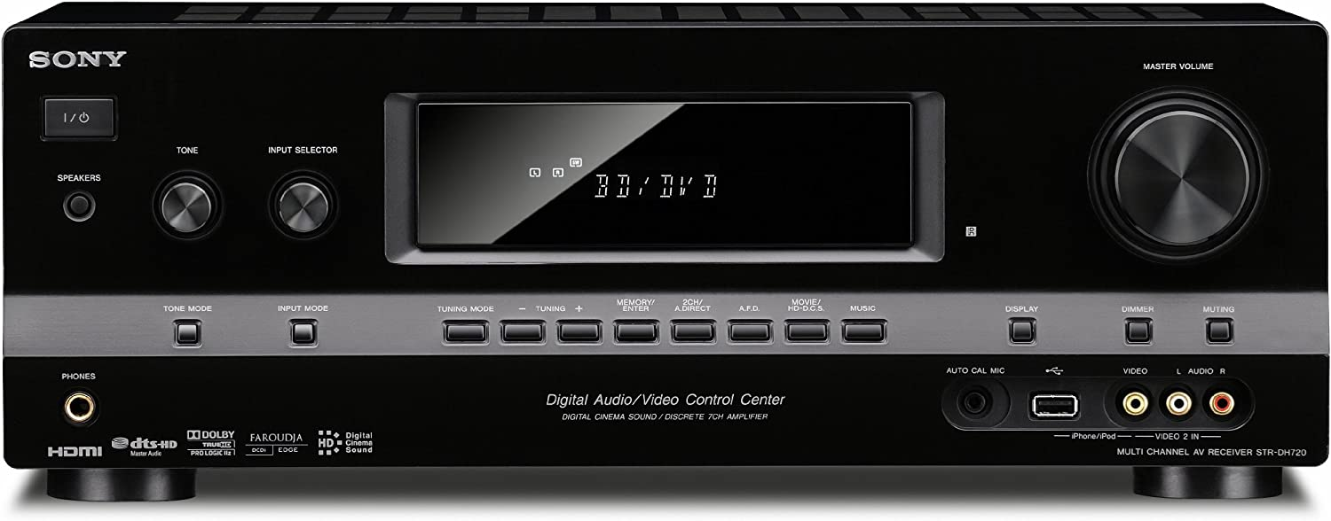Sony STRDH720 7.1 Channel 3D AV Receiver (Black) (Discontinued by Manufacturer)