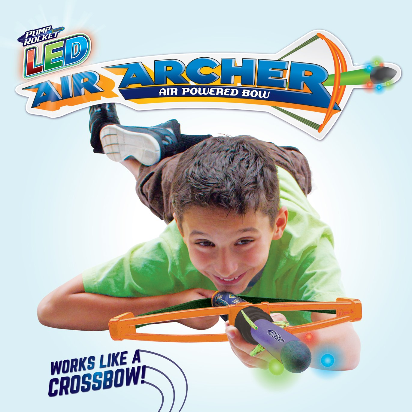 Geospace Pump Rocket LED Air Archer Air-Powered Bow /& Rocket Set with EZ-Pull Bungee Power 1 Launcher and 1 Rocket