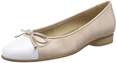 ccc5c1129d Gabor Shoes Women's Basic Bunty Ballet Flats, White (Weiss/Sand), ...