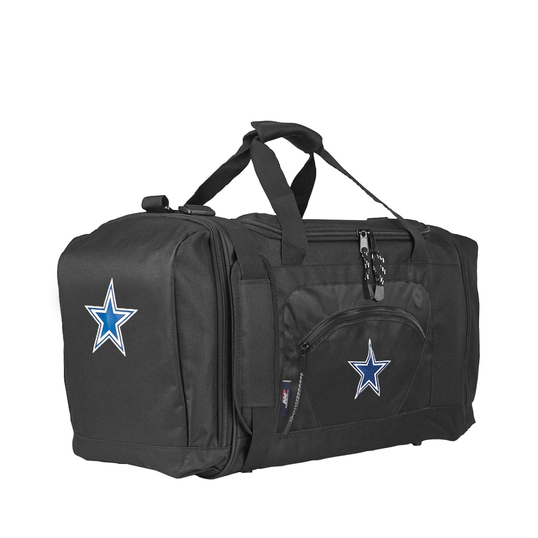 The Northwest Company Officially Licensed NFL Dallas Cowboys Unisex ''Roadblock'' Duffel Bag, Black
