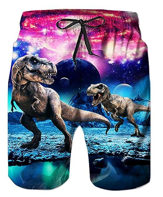 040d2531c0 uideazone Teen Boys Funny Swim Trunks Quick Dry Beachwear Sports Running  Swim Board Shorts