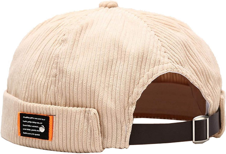 Women Retro Beret Hat Check Cotton Skull Cap Beanie Brimless Adjustable Casual
