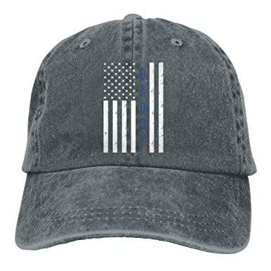 Image Unavailable. Image not available for. Colour  Inlenged Police Daddy  Blue Line Daddy - Retro Denim Baseball Hat ... b8203cdf1a69