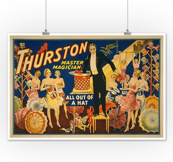 Thurston The Magician Vintage Advertising 12X16 Inch Framed Art Print