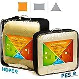 Purovi® VELA PARASOLE quadrata | Varie dimensioni | Schermo UV | Disponibile in PES impermeabile o HDPE traspirante | 4 x 4 m in PES