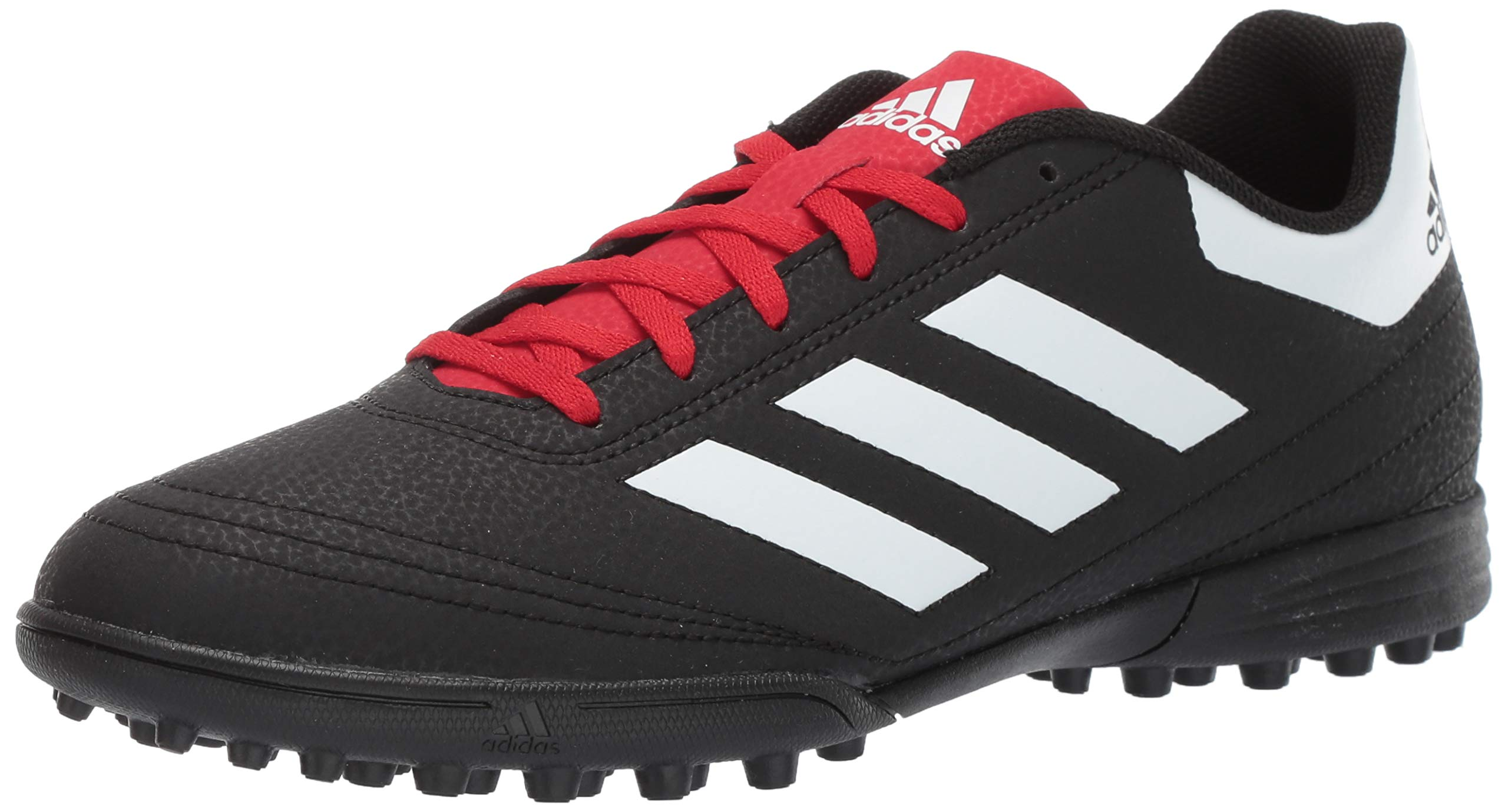 adidas Men's Goletto VI Turf Football Shoe, Black/White/Scarlet, 9 M US by adidas