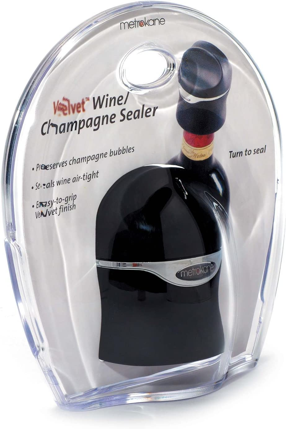 Set of 3 Rabbit Velvet Champagne and Wine Sealer